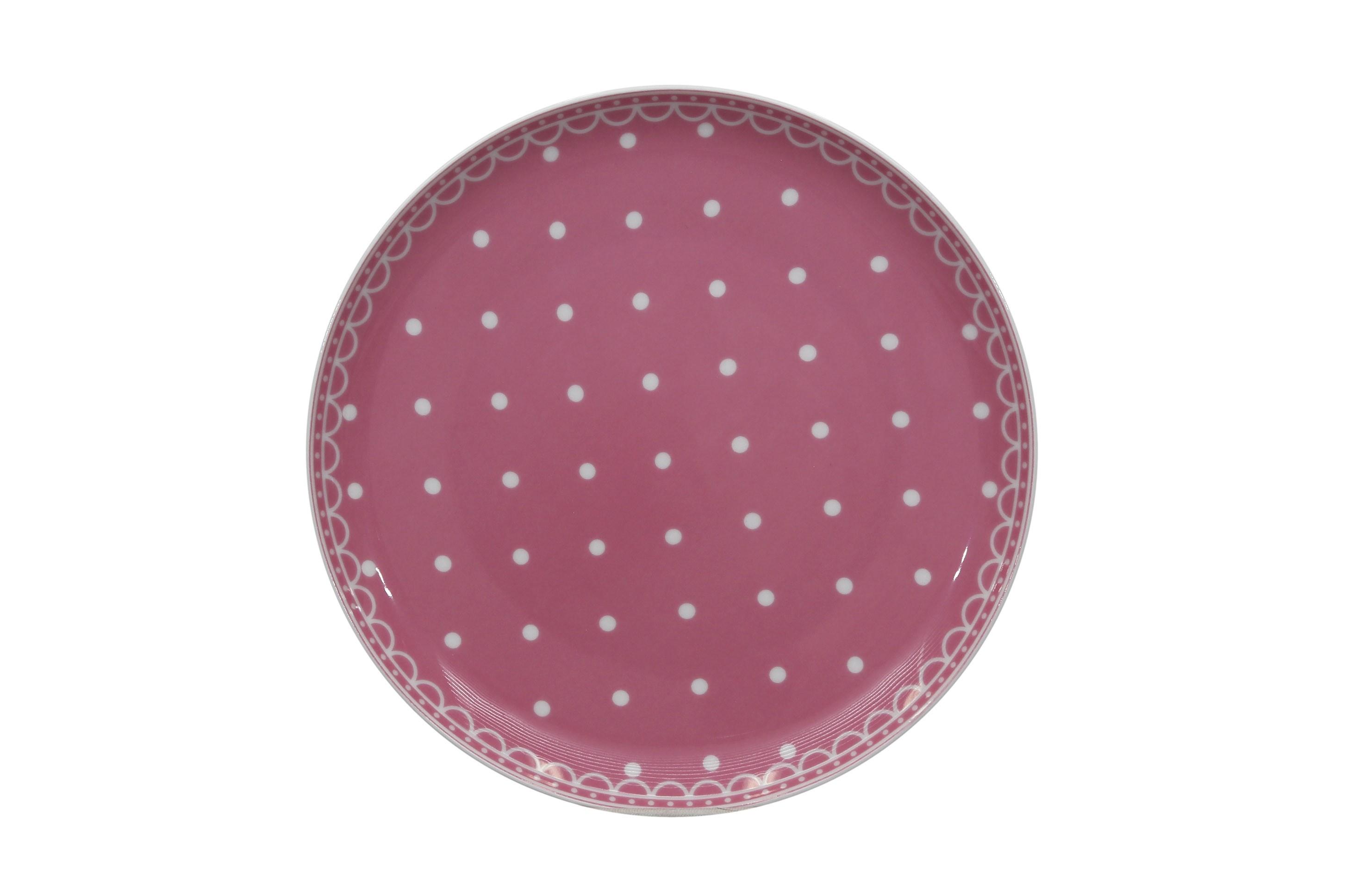 Talíř desertní 19 Tom Růžový puntík