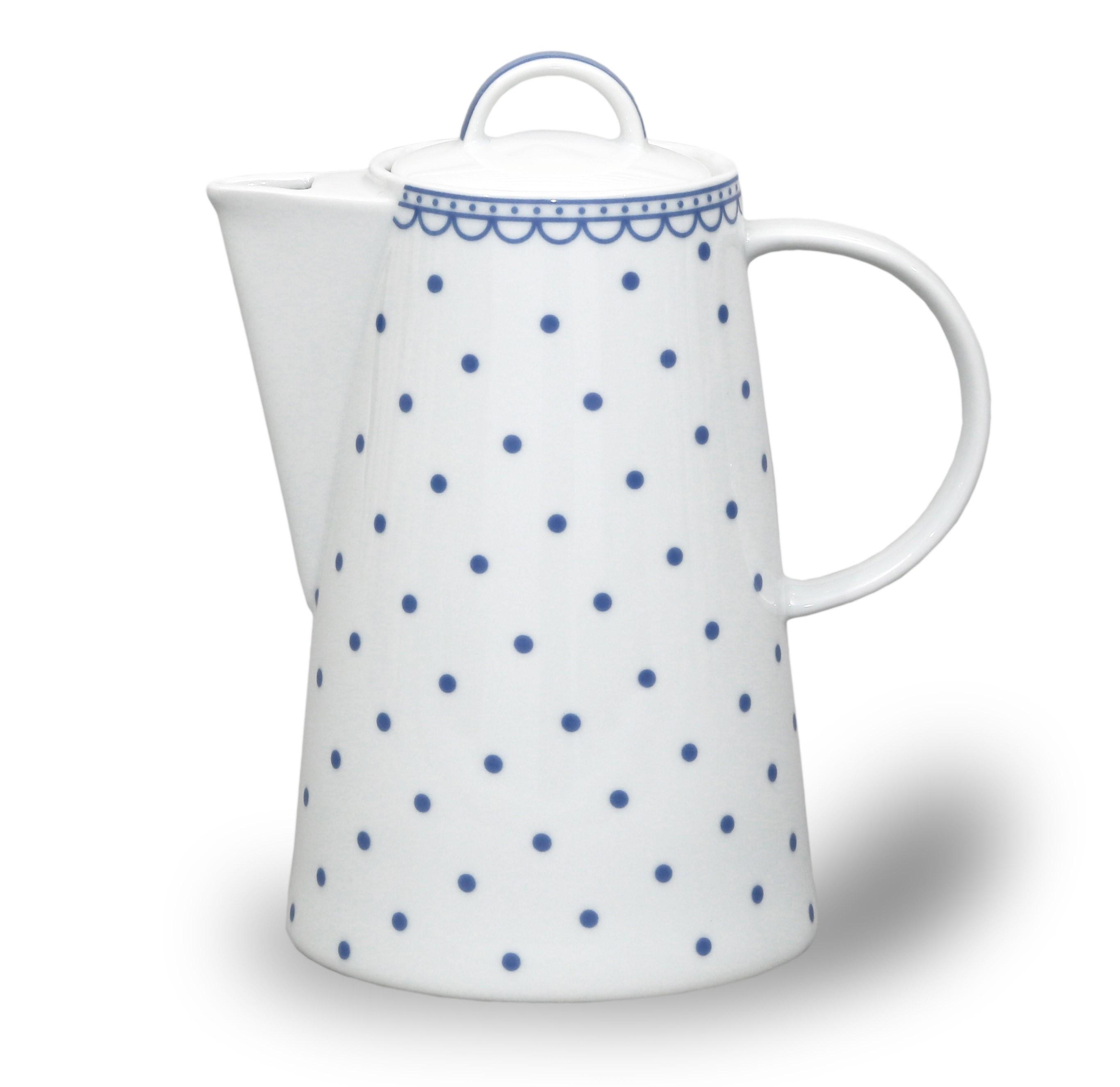 Kávová konvice Tom - Modrý puntík