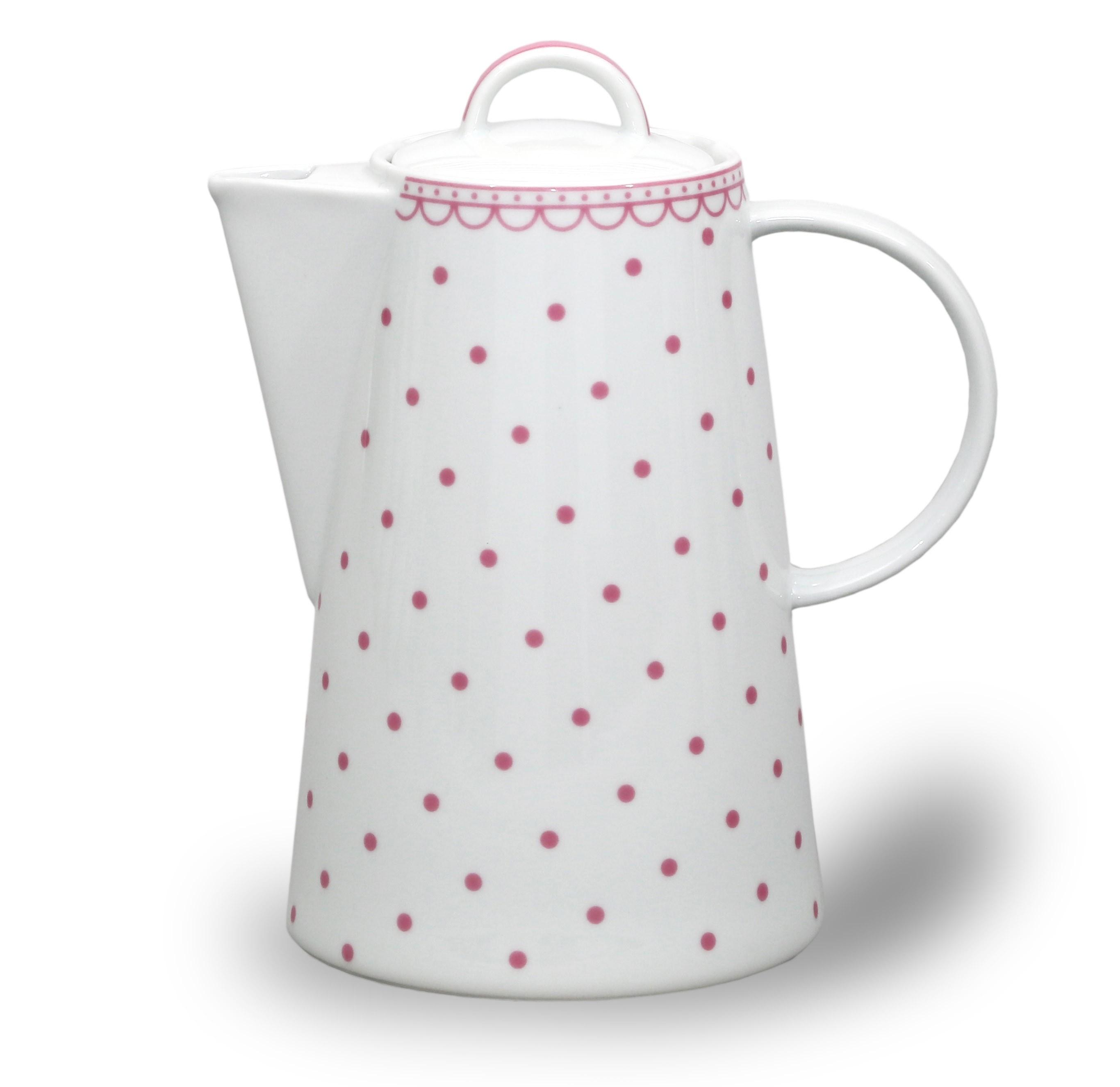 Kávová konvice Tom - Růžový puntík